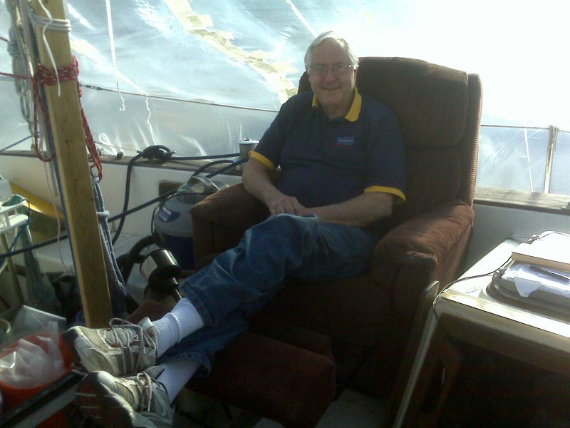 Sam in his On Deck Recliner