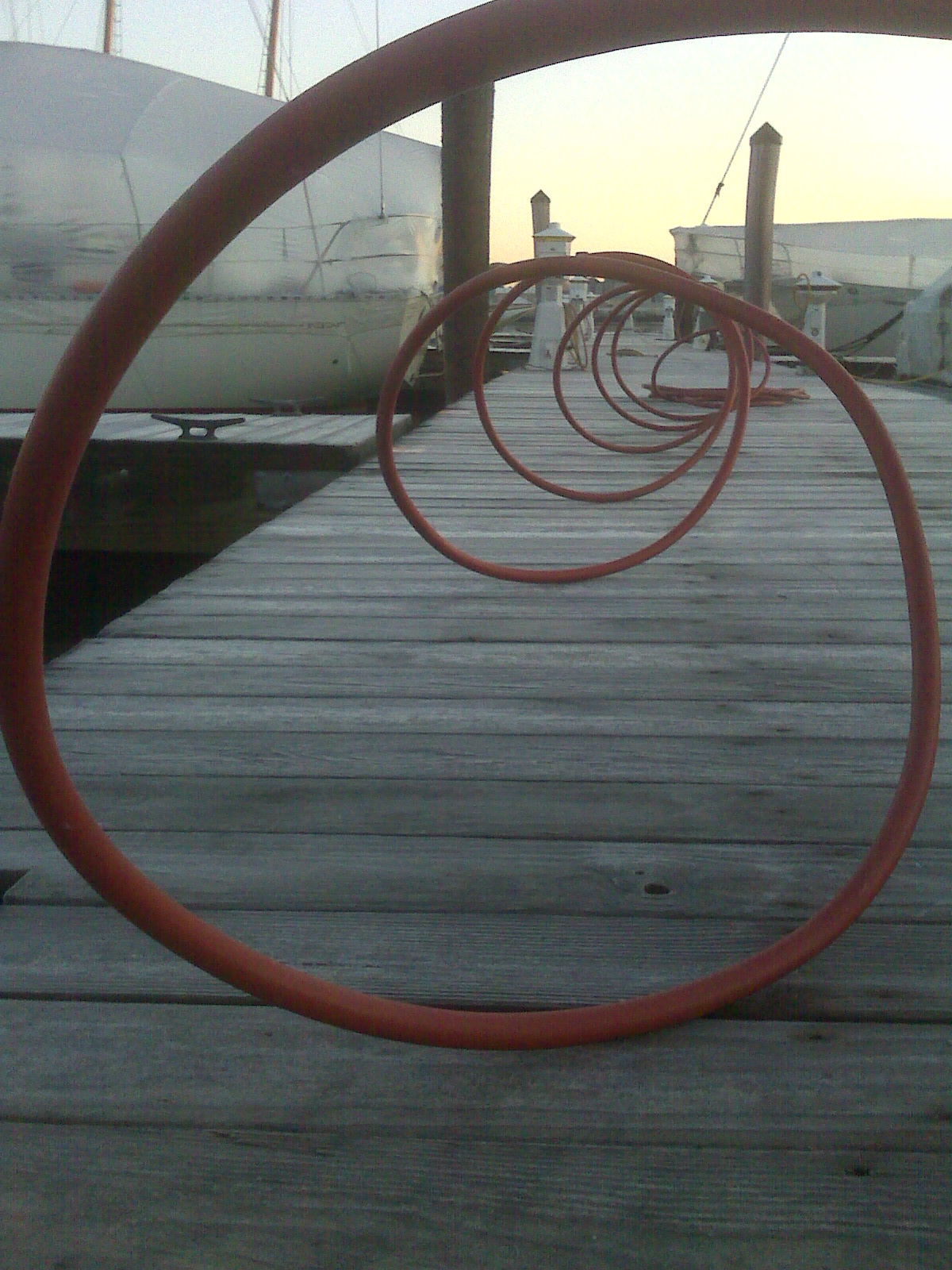 View from the dock- Cold chilled hose Getting water while the weather is nice 12-28-09
