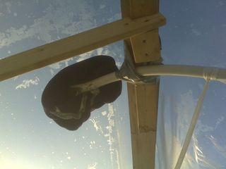 Hat on Pipe - Shrink Wrap Frame
