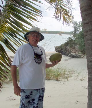 EW and His First Coconut