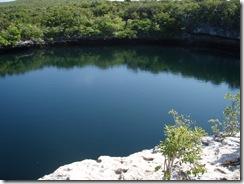 Blue Hole on Hoffman's Island, Bahamas
