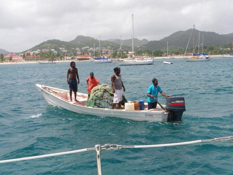 Vicky's shot of the fishermen