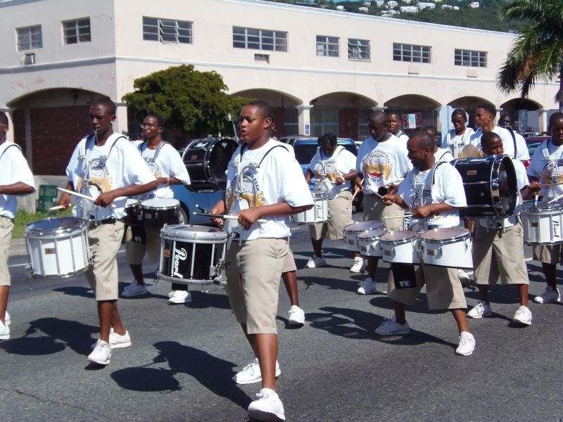 Parade CAHS Drum Section 12-17-2011 12-55-07 PM