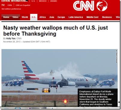 US Weather November 26