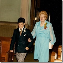 Mom and Mo Walking Down the Aisle
